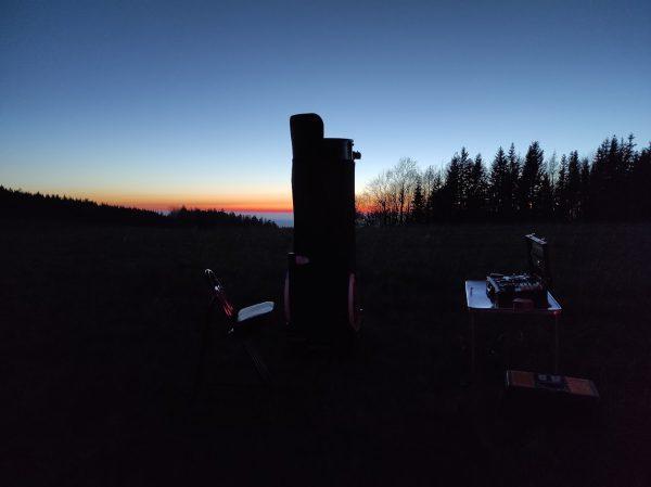 Pozorování na Traneckém kopci u Černilova