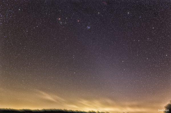 Zodiakální svit nedaleko od Hradce Králové